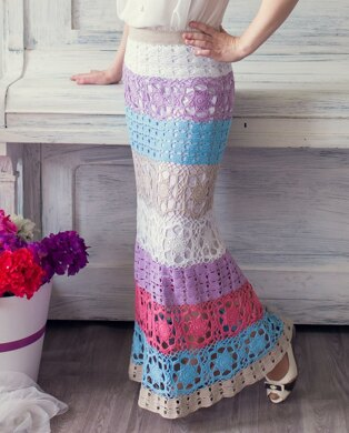 Summer crochet long skirt