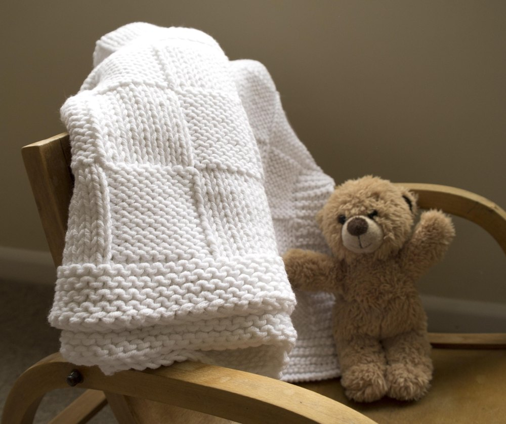 Easy Baby Blanket Knitting Pattern By Sproglets Kits