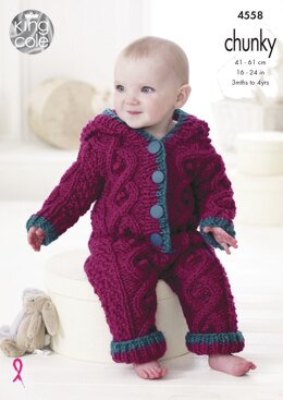 Baby Set in King Cole Chunky - 4558 - Downloadable PDF