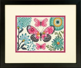 Dimensions Butterfly Dream Cross Stitch Kit - 17cm x 12cm