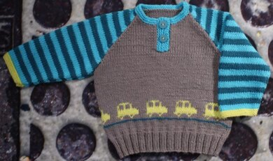 Jamie Jumper with Cars * Sizes 0 months to 4 years