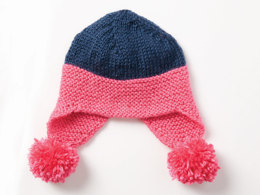 Baby Earflap Hat in Caron Simply Soft and Simply Soft Brites - Downloadable PDF