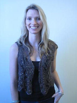 Lace Vest in Artyarns Beaded Mohair and Sequins - I120