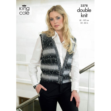 Cardigan and Waistcoat in King Cole Galaxy DK - 3378