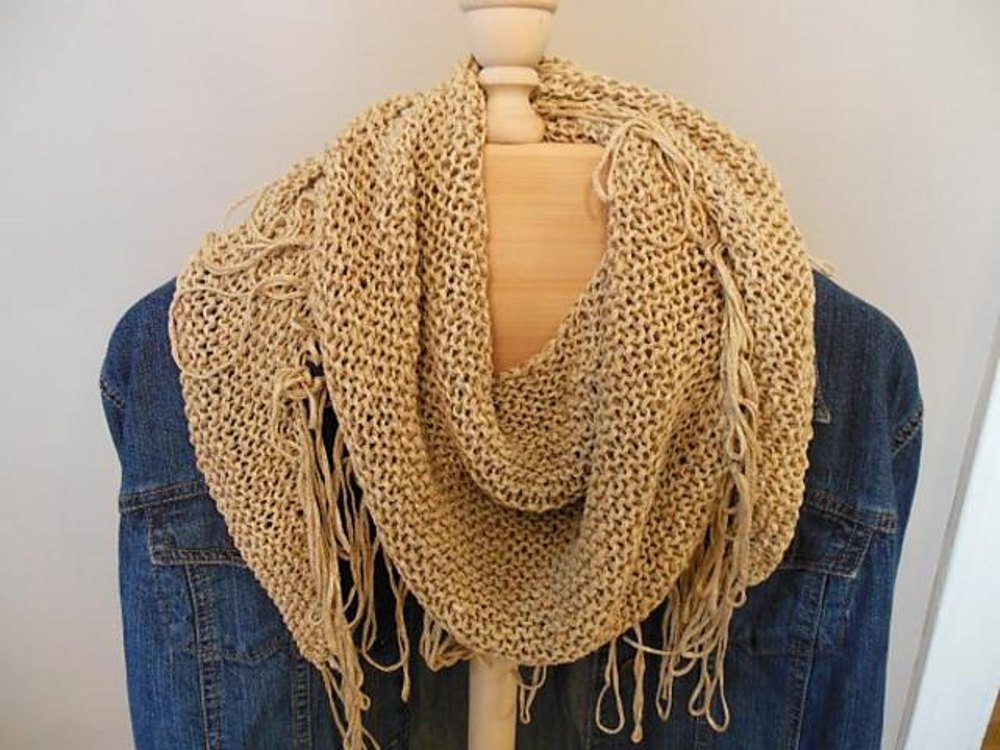 Fringed Benefits Neck Scarf Knitting Pattern By Kay Meadors Knitting