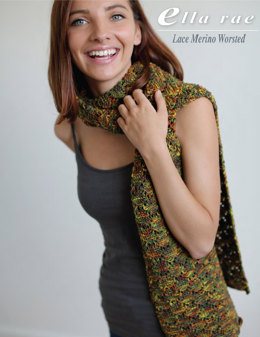 Wrap in Ella Rae Lace Merino Worsted - ER9-04 - Downloadable PDF