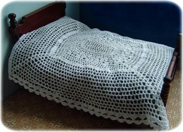 1:12th scale Open lace bedspread