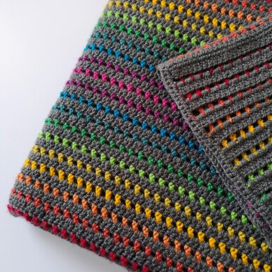 Rainbow Through the Storm Crochet Blanket