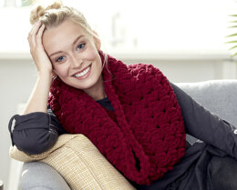 Cable Cowl in Bernat Alize Blanket-EZ - Downloadable PDF