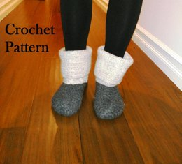 Felted Granite Boots - Crochet