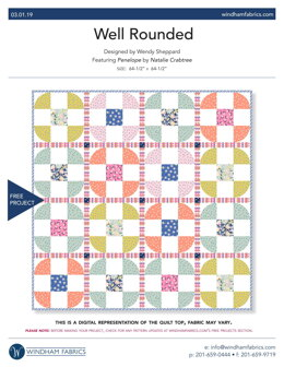 Windham Fabrics Well Rounded - Downloadable PDF