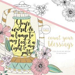 "Kaisercraft KaiserColour Perfect Bound Coloring Book 9.75""X9.75"" - Count Your Blessings"