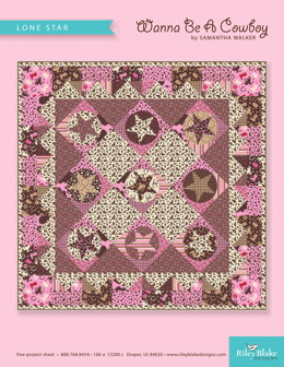 Riley Blake Lone Star Quilt - Downloadable PDF