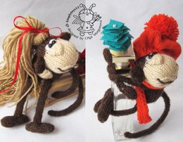 Keychain monkey (two in one)