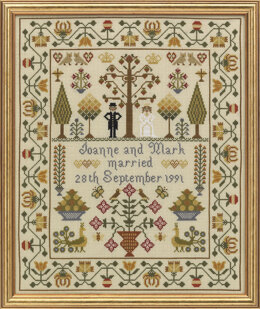 Historical Sampler Company Wedding Sampler Cross Stitch Kit