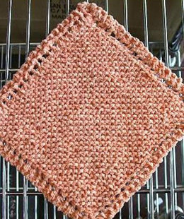 Cotton Chenille Washcloth in Crystal Palace Cotton Chenille