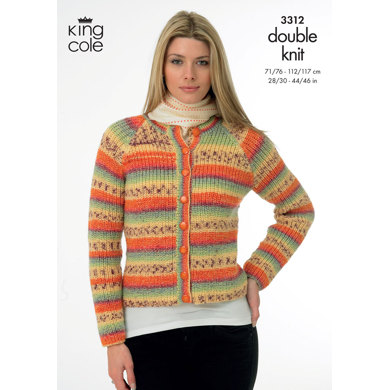 Sweater & Jacket in King Cole Splash DK - 3312