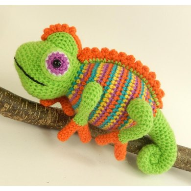 Camelia The Chameleon Crochet Pattern By Moji Moji Design