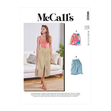 McCall's Misses' Skirts M8222 - Sewing Pattern