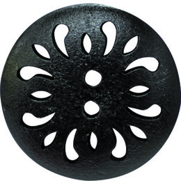 Black Carved 30mm 2-Hole Button