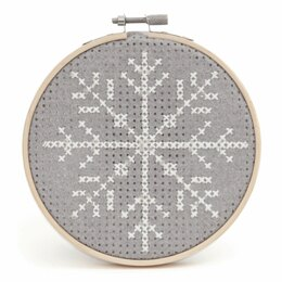 Trimits Snowflake Cross Stitch Kit with Hoop