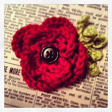 Remembrance Poppy Brooch Crochet Pattern By Fiona Campbell Crochet