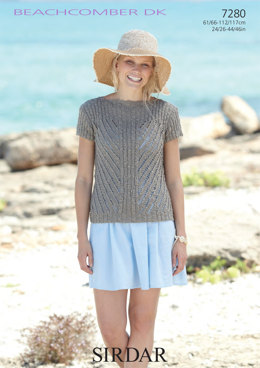 Woman's and Girl's Top in Sirdar Beachcomber Dk - 7280