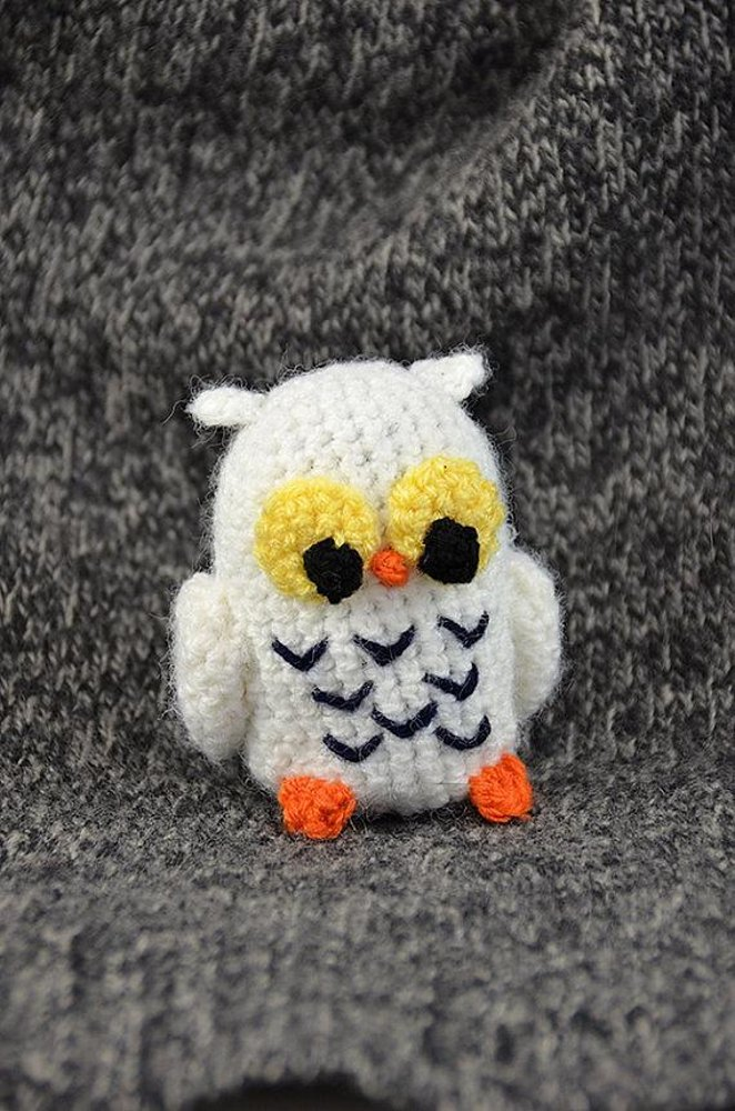 Crochet Pattern For Pikachu Doll : Henry the Snowy Owl - Amigurumi - Animal Crochet - Small ...