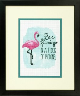 Dimensions Tapestry Kit: Be a Flamingo - 13 x 18cm