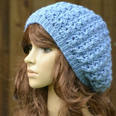 Womens Chunky Lace Beret KPWT02 in Wendy Serenity Chunky
