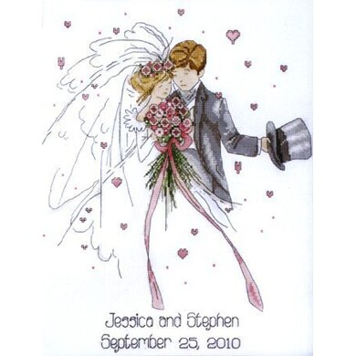 Design Works Wedding Couple Wedding Sampler Cross Stitch Kit