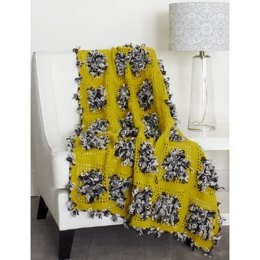 Throw for a Loop in Bernat Super Value and Fleurettes