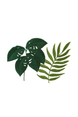 Monstera & Botanical Fern  in DMC - PAT0008 -  Downloadable PDF