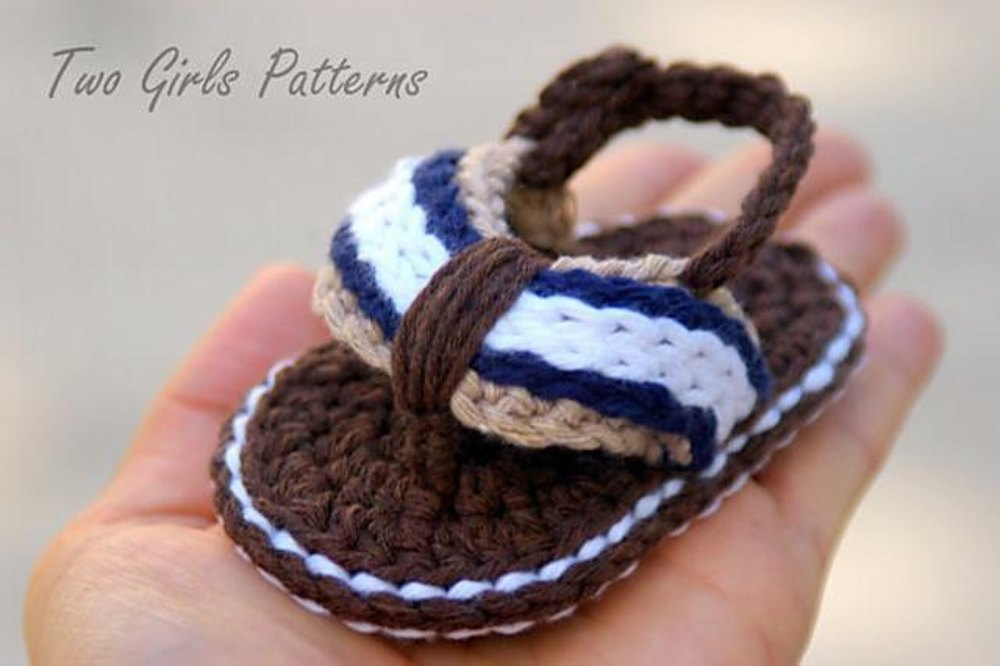 Sporty Flip Flop Baby Sandals For Boys And Girls Crochet Pattern By