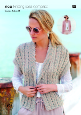 Cardigan and Waistcoat in Rico Fashion Balance DK - 563