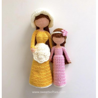 Mother & Daughter Willow Tree Inspired Dolls