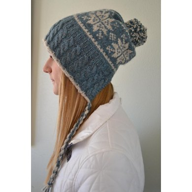 Split Back Snowflake Hat