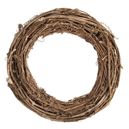 Groves Wreath Base: Willow: Natural: 30cm/11.8in