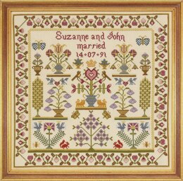 Historical Sampler Company Wedding Pot Sampler Cross Stitch Kit