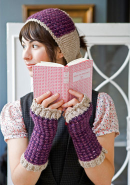 Huxley Headband & Gloves in Berroco Blackstone Tweed