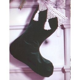 Lace Stocking Edging in Patons Astra - Downloadable PDF