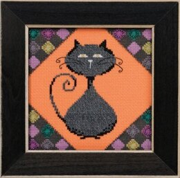 Mill Hill Debbie Mumm Alley Cats - Coal - 5.75inx5.75in