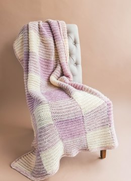 The Homemaker Gingham Crochet Throw