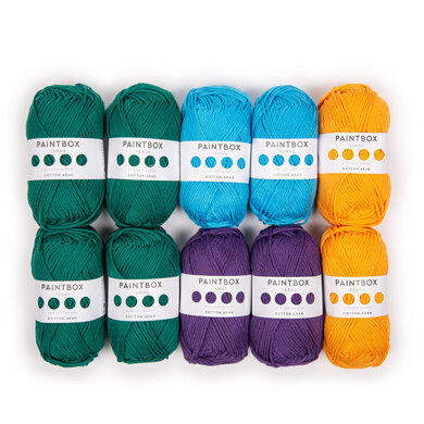 Paintbox Yarns Cotton Aran 10 Ball Colour Pack Trends