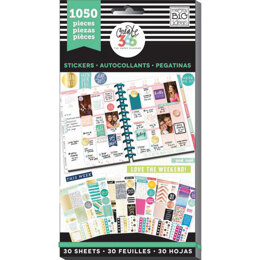 Me & My Big Ideas Happy Planner Sticker Value Pack - This Colorful Life - Classic, 1050/Pkg