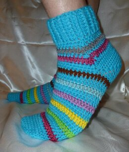 Crochet Afterthought Heel Men's Socks