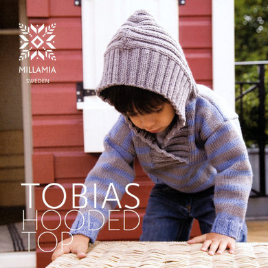 Boys' Tobias hooded Top in MillaMia Merino Wool