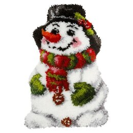Orchidea Snowman Shaped Latch Hook Cushion Kit