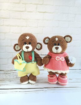 Crochet Clothes for Plush Bears Brownie