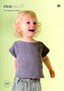 Top and Jumper in Rico Baby Cotton Soft DK - 530 - Leaflet